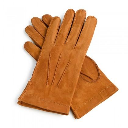 Guantes de piel marrón