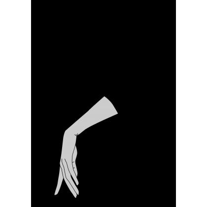 Guantes de lana vison y piel negro topos vison