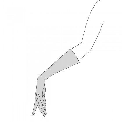 Guantes de hombre piel marrón forro franela cosido a mano