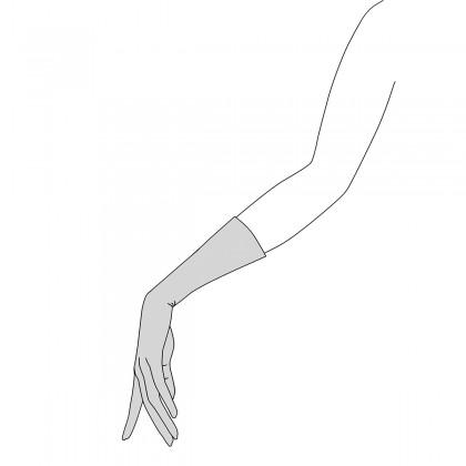 Guantes sport piel negro hebilla